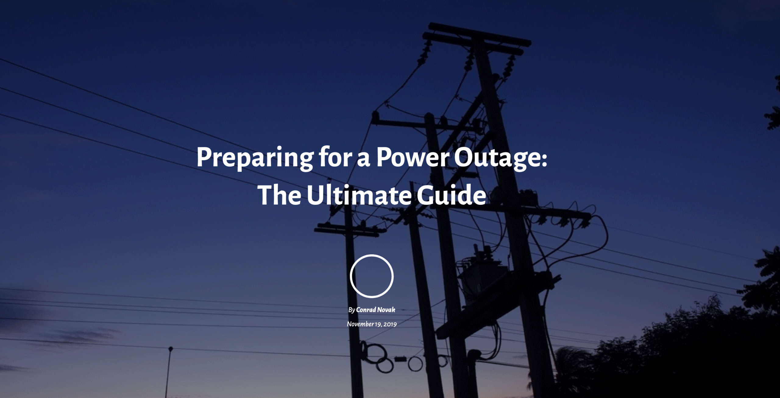 Preparing for a Power Outage: The Ultimate Guide